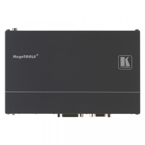 KRAMER , HD-BaseT Multiformat Übertrager, IN: HDMI/Analog Audio/DVI/VGA/DisplayPort | OUT: RJ45 (HD-BaseT 1.0) Schaltkontakte für Signalauswahl