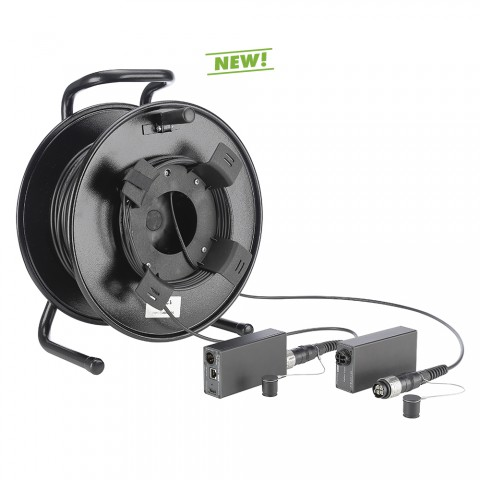 DVM-Serie HDMI® over FIBER4-Kit on cable reel