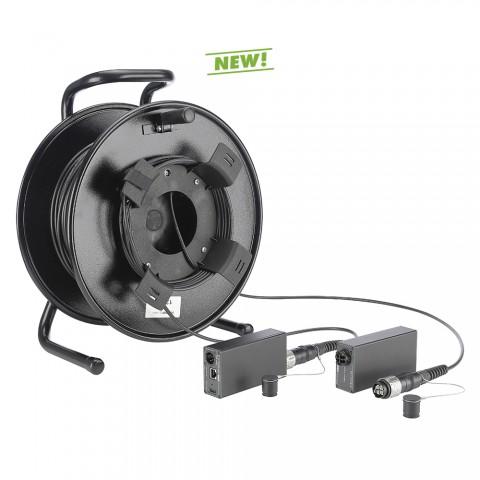 DVM-Serie HDMI® over FIBER4-Kit auf Kabeltrommel