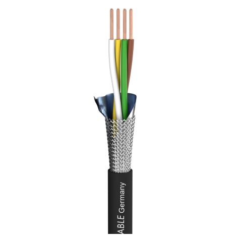 DMX Binary 434 DMX512; 4 x 0,34 mm²; PUR-Blend Ø 7,00 mm; schwarz