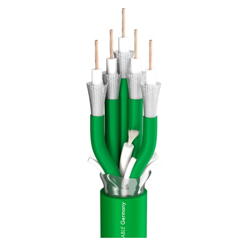 video cable SC-Vector Plus 5; 1 x 1,20; FRNC Ø 22,10 mm; green