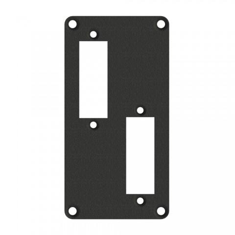 SYSBOXX Frontblech , 2 HE, 1 BE, Stahlblech 2 mm / verzinkt