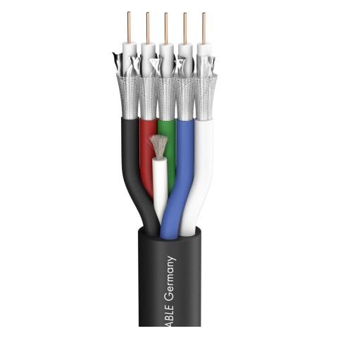 Videokabel Transit 5 HD; 1 x 0,60/2,80; PVC Ø 13,80 mm; schwarz