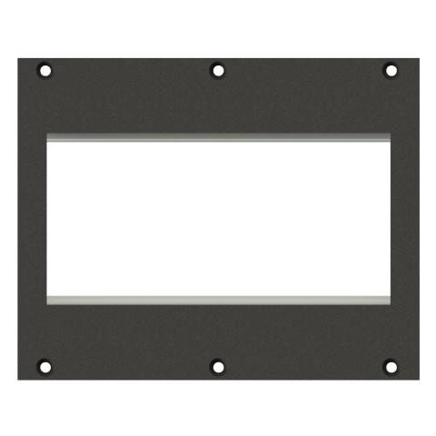 Frontblech 2 x W45 Module, 2 HE, 3 BE für SYS-Gehäuseserien, verzinktes Stahlblech, Farbe: anthrazit, RAL 7016