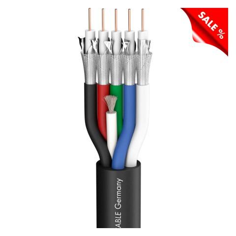 Videokabel Transit 5 HD; 1 x 0,60/2,80; FRNC Ø 13,80 mm; schwarz