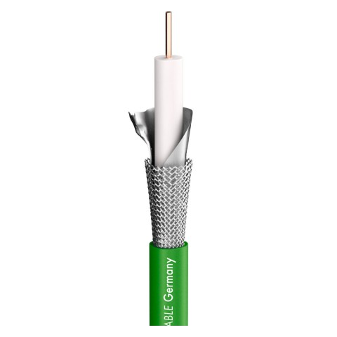video cable SC-RG Classic Broadcast; 1 x 1,00; FRNC Ø 7,10 mm; green