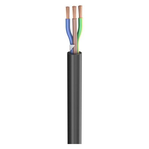 Gummischlauchleitung SC-Rubberflex; 3 x 1,50 mm²; Gummi, Ø 10,00 mm; schwarz