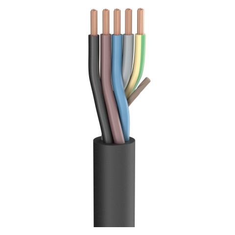 Gummischlauchleitung SC-Rubberflex; 5 x 2,50 mm²; Gummi, Ø 15,00 mm; schwarz