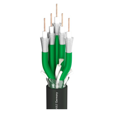 video cable SC-Vector Plus 5; 1 x 1,20; PVC self-extinguishing Ø 22,10 mm; black