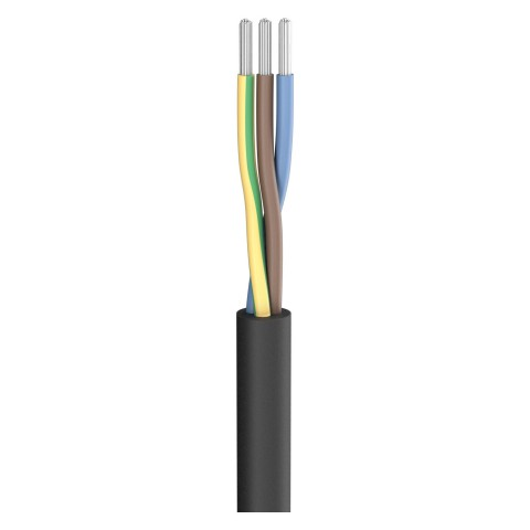 Silicone cable SC-Silcoflex; 3 x 1,50 mm²; Silicon, Ø 8,00 mm; black