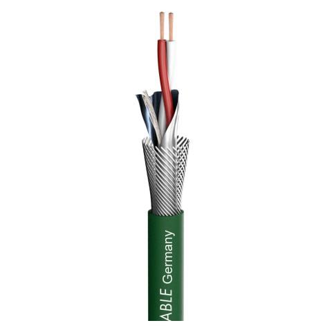 NF-Phonokabel, HighEnd SC-Albedo MKII; 2 x 0,20 mm²; PVC Ø 5,90 mm; grün