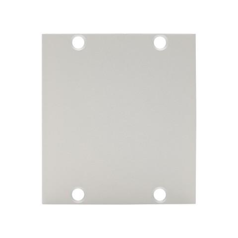 Seitenblech Leerblech, 2 HE; Tiefe: 80 mm für SYSBOXX, Farbe: weiß