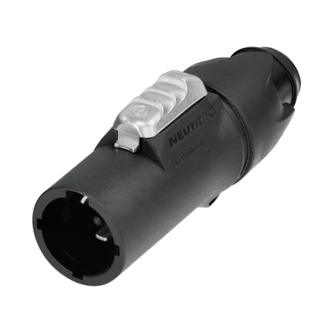 NEUTRIK PowerCon, UL50E , 3-pole , plastic-, screw-type-male connector, silver plated contact(s), straight, black
