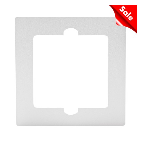 Adapter frame for flush mounting and front panels , scale: 54x54x5,4 mm, plastic, colour: white