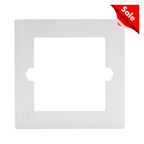 Adapter frame for flush mounting and front panels with rounded corners , scale: 54x54 x1,9 mm, plastic, colour: white