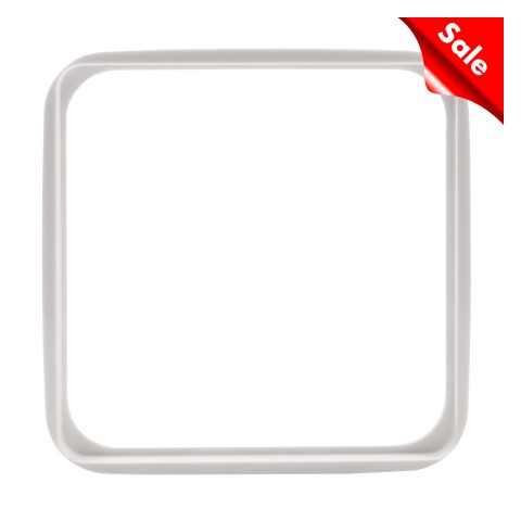 Adapter frame for flush mounting and front panels with rounded corners , scale: 55x55x1,9 mm, plastic, colour: white
