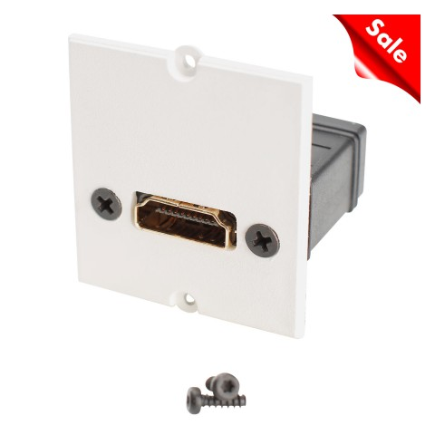 SYSWALL Front panel HDMI female / HDMI female, colour: RAL 9010 pure white