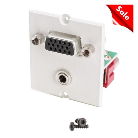 SYSWALL Front panel VGA + 3.5mm / VGA + 2 x RCA, colour: RAL 9010 pure white
