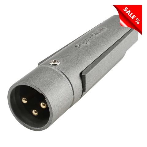 XLR, 3-pol , Metall-, Löttechnik-Kabelstecker, vergoldete(r) Kontakt(e), gerade