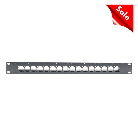 "SYSPANEL housing 19"" with 16 x A / B press cut for 4 x SBC13-modules , 1 HE; depth: 140 mm"