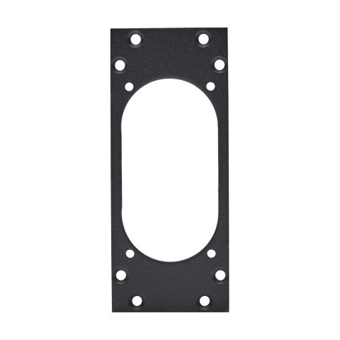 front panel 1 x NAC3PX, 2 HE, 1 BE for suitable 1x NEUTRIK® NAC3PX powerCON® TRUE1, 2.5 mm galvanized steel sheet, colour: anthracite, RAL 7016