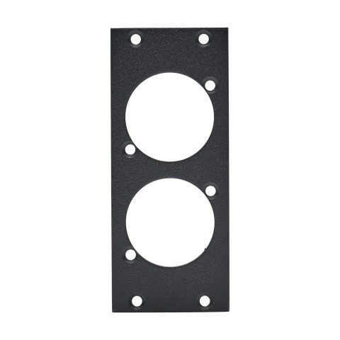 front panel 2 x opticalCON®, 2 HE, 1 BE for SYS-series, Galvanized sheet steel, colour: anthracite, RAL 7016