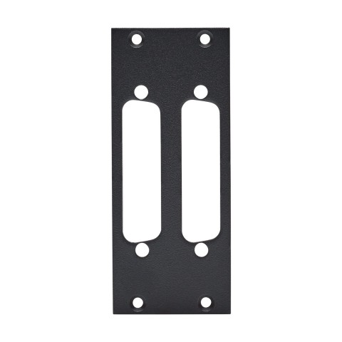 front panel 2 x D-SUB 25-pol, 2 HE, 1 BE for SYS-series, Galvanized sheet steel, colour: anthracite, RAL 7016