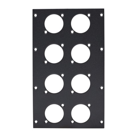 front panel 8 x A / B-Hole, 2 HE, 4 BE for SYS-series, Galvanized sheet steel, colour: anthracite, RAL 7016