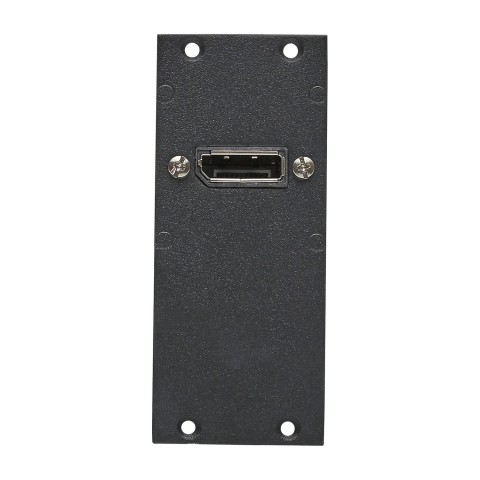 Connector Module 1 x DisplayPort fem. -> 1 x DisplayPort male 1,00m, 2 HE, 1 BE for SYS-series, colour: anthrazith, RAL 7016
