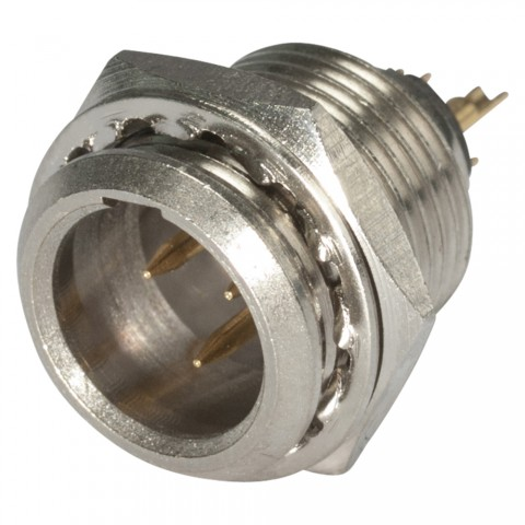 Hicon HI-XMCM3 Mini-XLR 3-pol Metall-,Löttechnik-Kabelstecker Stecker