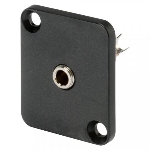 HICON Micro-Klinke (2,5mm), 3-pol , Metall-, Löttechnik-Einbaubuchse, vernickelte(r) Kontakt(e), Type D, schwarz