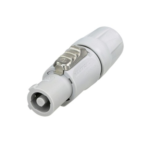 NEUTRIK® powerCON®, 3-pole , plastic-, screw-type-female connector, silver plated contact(s), straight, grey