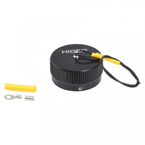 HICON  Round-LK 25 male (CIR25), Cover cap, Bajonet, black