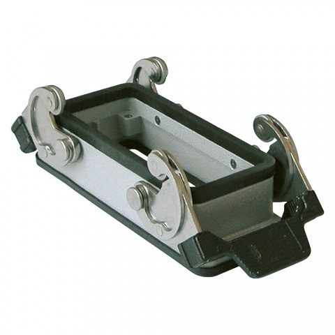 ILME  rectangle MP 24, metal-, Add-on housing, flat, 2 clamps, grey