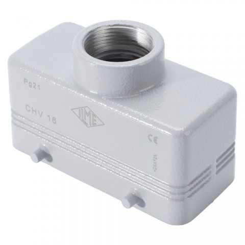 ILME  rectangle MP 16, metal-, Sleeve housing, 4 bolts, grey