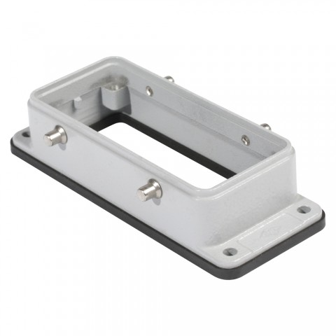 ILME  rectangle MP 16, metal-, Surface-mounted housing high, 4 bolts, grey