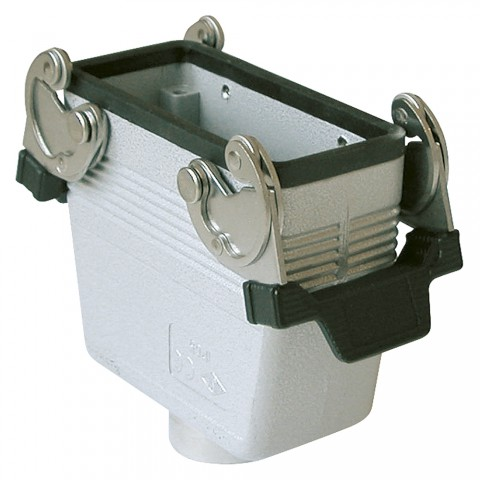 ILME  rectangle MP 16, metal-, Sleeve housing, 2 clamps, grey