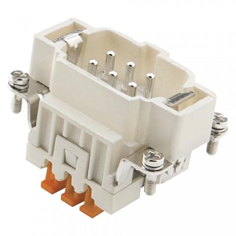 ILME  Rectangular MP 06, 6-pole , Pin insert SQUICH, grey