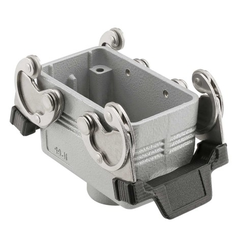 ILME  rectangular MP 10, metal-, Sleeve housing, 4 bolts, grey