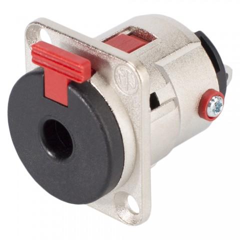 NEUTRIK® Klinke (6,3mm), 3-pol , Metall-, Löttechnik-Einbaubuchse, versilberte(r) Kontakt(e), Type D, nickelfarben