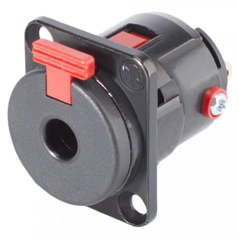 NEUTRIK® Klinke (6,3mm), 3-pol , Metall-, Löttechnik-Einbaubuchse, vergoldete(r) Kontakt(e), Type D, schwarz