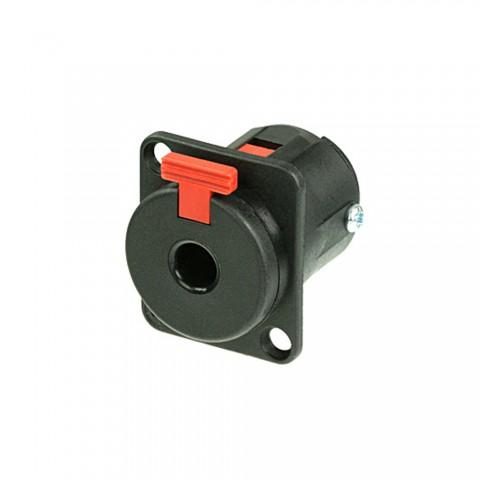 NEUTRIK® Klinke (6,3mm), 3-pol , Kunststoff-, Löttechnik-Einbaubuchse, versilberte(r) Kontakt(e), Type D, schwarz verchromt