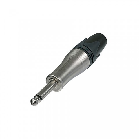 NEUTRIK® Klinke (6,3mm)  2-pol Metall-Löttechnik-Stecker, Pin vernickelt, gerade, nickelfarben