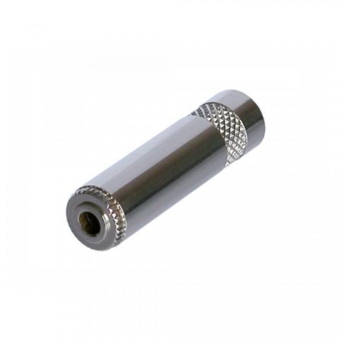 REAN Klinke (3,5mm), 3-pol , Metall-, Löttechnik-Kabelbuchse, vernickelte(r) Kontakt(e), gerade, nickelfarben