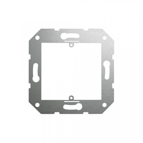 Montage-Rahmen 1-fach , Baugröße: 50x50 mm, Edelstahl