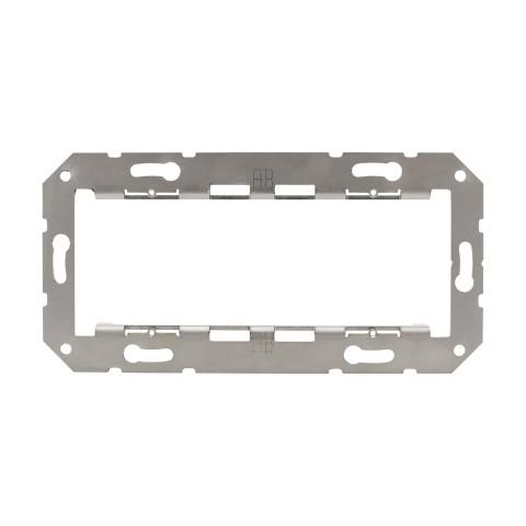 Montage-Rahmen 2-fach , Baugröße: 50x50 mm, Edelstahl