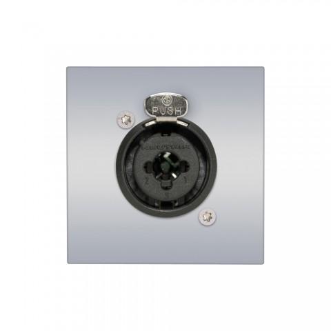 Anschluss-Modul XLR / Klinke-Combo fem. —> Schraubklemme, Baugröße: 45x45 mm, Kunststoff, Farbe: alusilber | W45KSCP-1XJ-S
