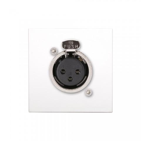 connection-modul XLR fem. —> Screw terminal, scale: 45x45 mm, plastic, colour: pure white