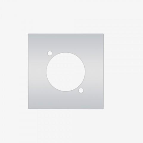Modul mit 1 x D-Loch unbestückt, 1 x D-Loch, Baugröße: 45x45 mm, Kunststoff, Farbe: reinweiß | W45KWFP-D