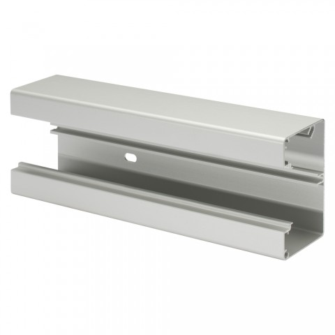 Aluminum duct 2000 mm , single height for 45x45-modules , scale: 60 x 90/45 mm, plastic, colour: aluminium silver